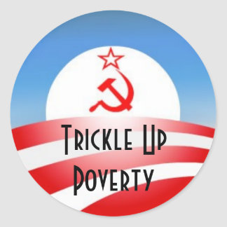 Trickle Up Poverty Classic Round Sticker