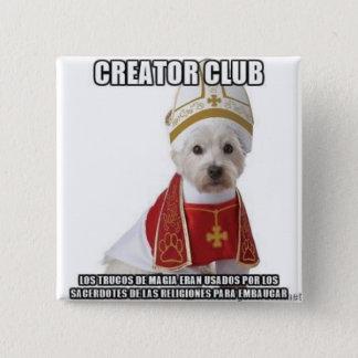 Tricks of magic priests 2 inch square button