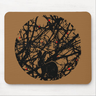 Trickster Rabbit in Briar Patch Mouse Pad