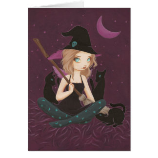 Tricksters - Fairy goth witch card