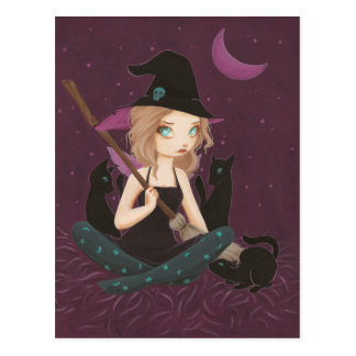 Tricksters - fairy goth witch postcard