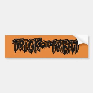 trickXtreat halloween Bumper Sticker