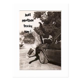 Tricky day postcard