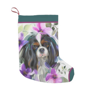 Tricolor Cavalier Christmas Stocking | Ornament