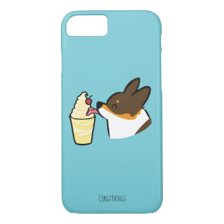 Tricolor Corgi Pineapple Dole Whip Case (Secret)