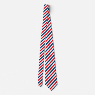 Tricolor Diagonal Lines (blue, white, red) Tie