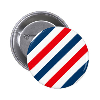Tricolor Diagonal Stripes(blue, white, and red) 2 Inch Round Button