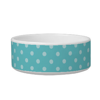 Tricolor Polka Dot Happy Corgi Pet Bowl