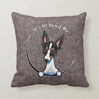 Tricolor Rat Terrier IAAM Throw Pillow