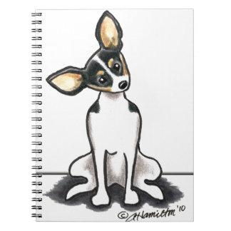 Tricolor Rat Terrier Sit Pretty Note Book
