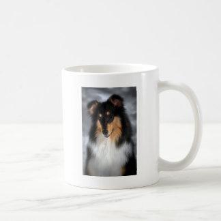 Tricolor Rough Coat Collie Coffee Mug