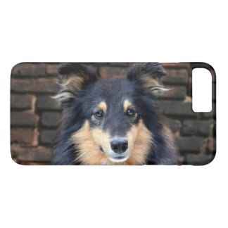 Tricolor Sheltie face iPhone 8 Plus/7 Plus Case