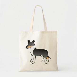 Tricolor Smooth Collie Cartoon Dog