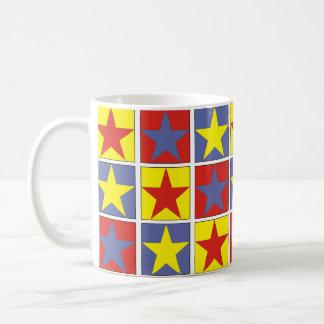 Tricolor Stars Coffee Mug