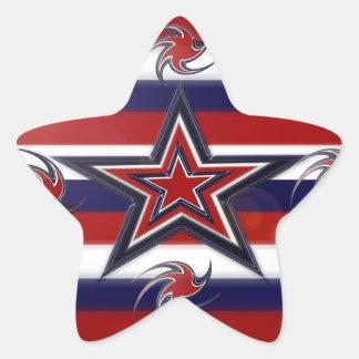 Tricolor Stars Stripes Star Sticker