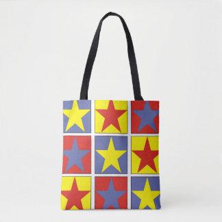 Tricolor Stars Tote Bag