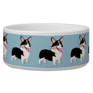 Tricolor Welsh Corgi Cartoon