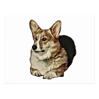 Tricolor Welsh Corgi Sitting Postcard