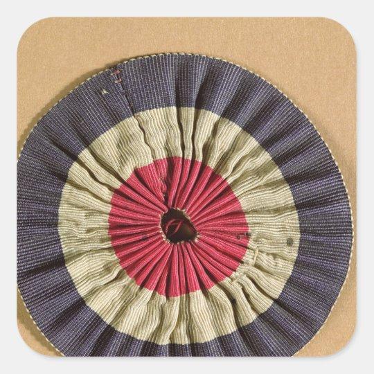 Tricolore rosette square sticker