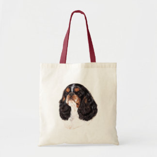 Tricolour king charles ( english toy ) spaniel bag