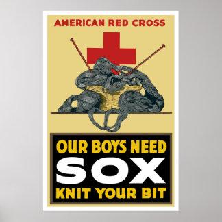 Tricotez votre peu -- Croix-Rouge américaine Affiche