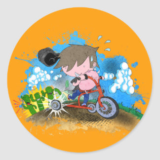 Tricycle Classic Round Sticker