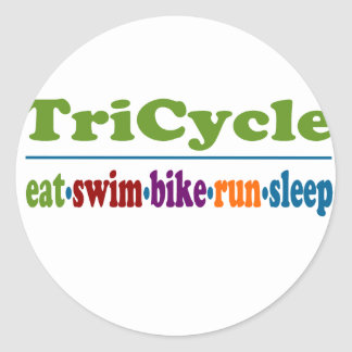 TriCycle in Color Round Sticker