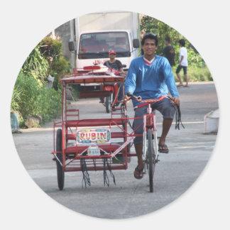 Tricycle Round Sticker