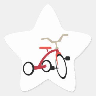 Tricycle Star Sticker