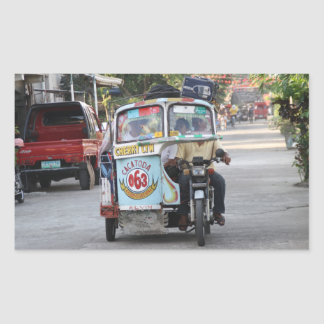 Tricycle Rectangular Sticker