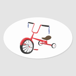 Tricycle Oval Sticker