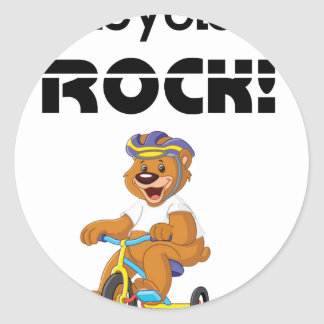 Tricycles Rock! Classic Round Sticker