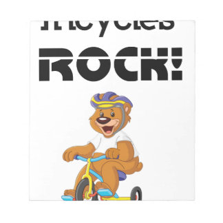 Tricycles Rock! Notepad