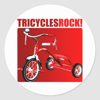 Tricycles Rock! Round Sticker