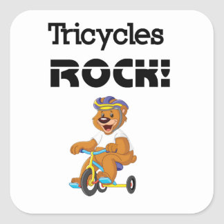 Tricycles Rock! Square Sticker