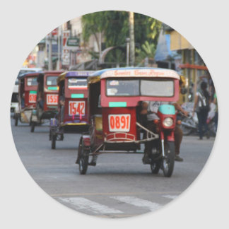 Tricycles Round Sticker