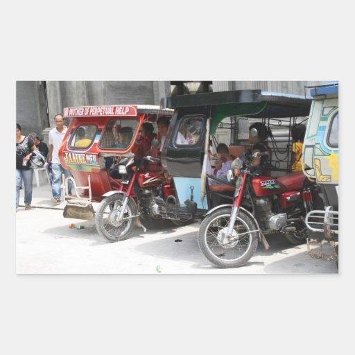 Tricycles Rectangular Sticker