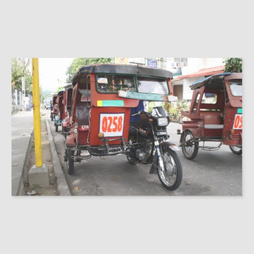 Tricycles Rectangular Stickers