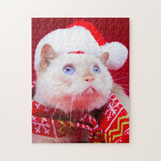 Trident the Cat Christmas Puzzle