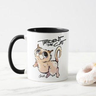 Trident the Cat Illustrated Coffee Mug 01