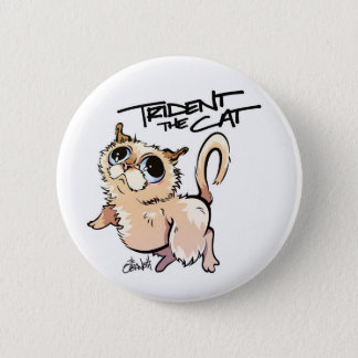 Trident the Cat Standard Button