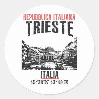 Trieste Classic Round Sticker