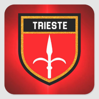 Trieste Flag Square Sticker