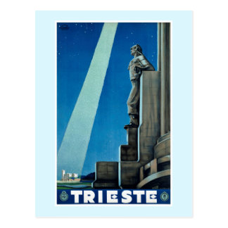 Trieste Italy Vintage Travel Poster Postcard