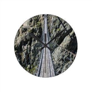 Triftsee Suspension Bridge - Gadmen - Switzerlan Wallclock