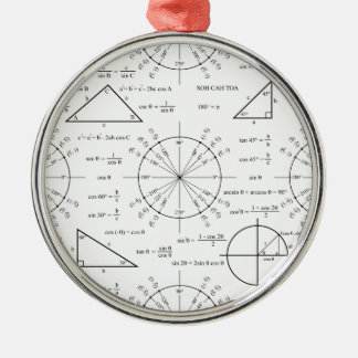 Trig & Triangles Metal Ornament