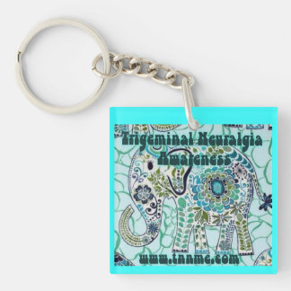 Trigeminal Neuralgia Awareness Elephant Key Chain. Keychain