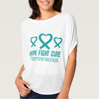 Trigeminal Neuralgia TN Teal Heart Ribbon T-shirt