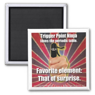Trigger Point Ninja ® Periodic Table Square Magnet