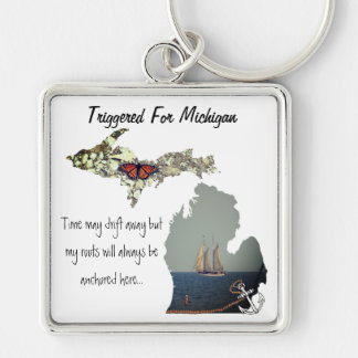 Triggered For Michigan Keychain